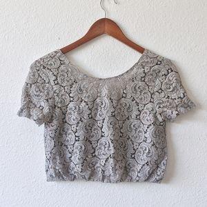 Zara Lace Crop Top